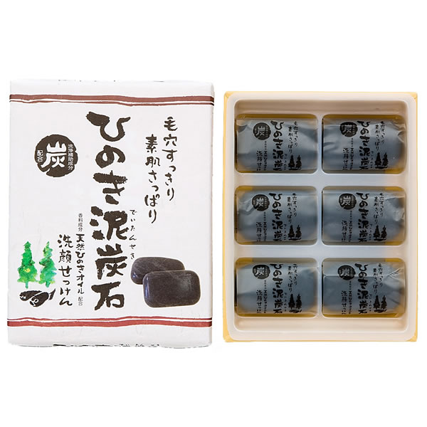ひのき泥炭石 洗顔せっけん  すっきりタイプ 30g×6個詰め